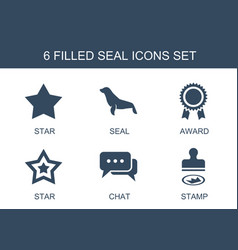 6 seal icons vector
