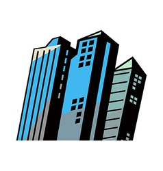 A building in the city vector image