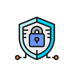 antivirus data protection cyber security flat vector image