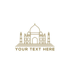 arabic mosque icon in linear style vector image