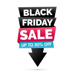 Black Friday sale banner Black pink and blue vector image
