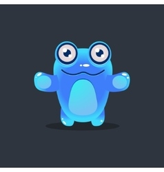 Blue alien wants a hug vector