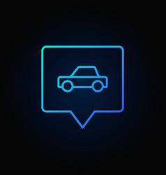 blue car in square pin vector image