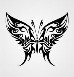 Butterfly Tattoo Design vector image