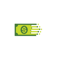 cash money logo growth chart and investment vector image