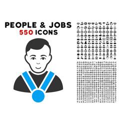 champion icon with bonus vector image