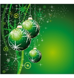 christmas balls background with snowflakes vector image