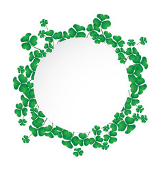 Circle space with shamrock vector