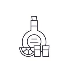 cognac line icon concept cognac linear vector image