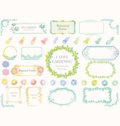 Colorful botanical frames vector
