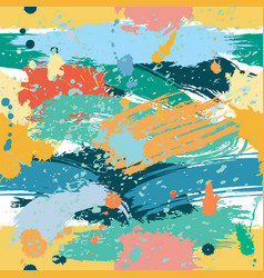 colorful seamless pattern with splashes and blobs vector image