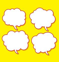 comical bubble speech vector image