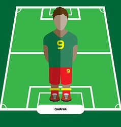 Computer game Ghana Soccer club player vector