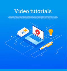 Concept for online education vector