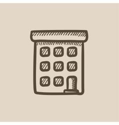 Condominium building sketch icon vector image