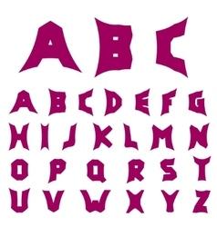 Creative alphabet letters vector