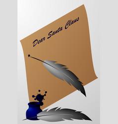 dear santa claus vector image