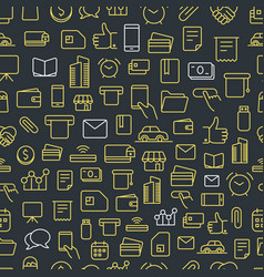 different network app icons seamless background vector image