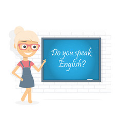 do you speak english question vector image