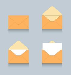 envelope icon logo set vector image