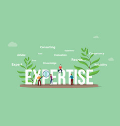 expertise concept with people team and big text vector image