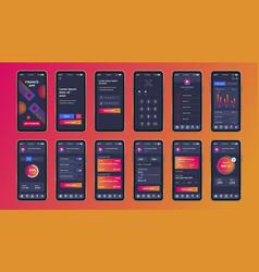 Finance unique design kit for mobile app vector