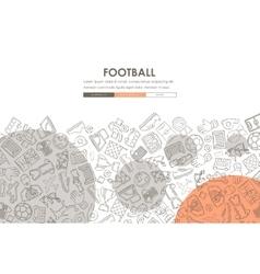 Football Doodle Website Template Design vector