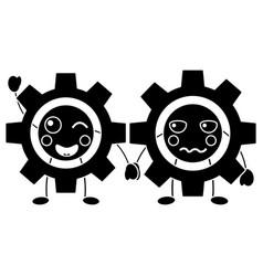 Gears kawaii icon image vector