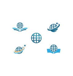 globe ilustration logo vector image