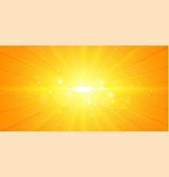 Glowing center light rays yellow background design vector