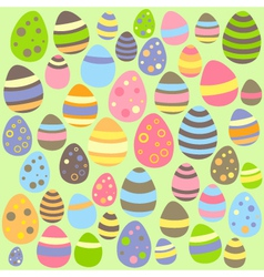Green Easter seamless pattern with eggs vector