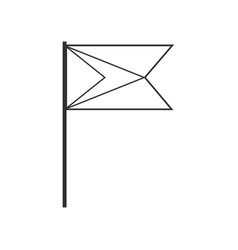 Guyana flag icon in black outline flat design vector