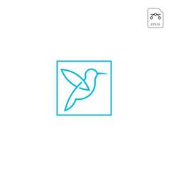 humming bird logo design icon element isolated vector image