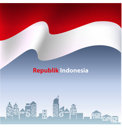 Indonesian flag vector
