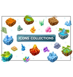 isometric game nature concept vector image