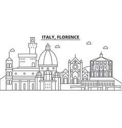 Italy florence architecture line skyline vector