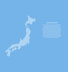 japan map abstract schematic from white ones and vector image