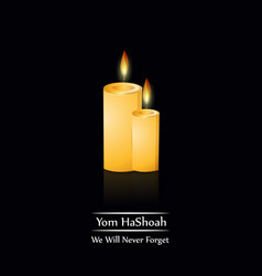 Jewish yom hashoah remembrance day background vector