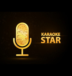 karaoke music club web banner vector image