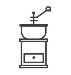 manual coffee grinder simple food icon in trendy vector image