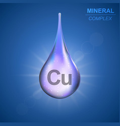 Mineral complex background vector