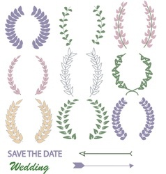Mixed Laurel Wreaths vector image