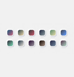 Modern aesthetics muted color gradients set vector