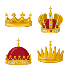 Monarchy and gold sign vector