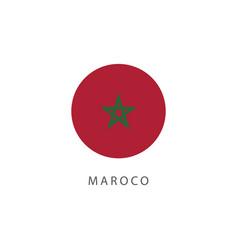 Morocco button flag template design vector