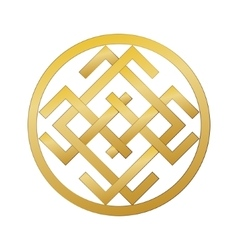 Mysterious ancient slavic symbol of good fortune vector