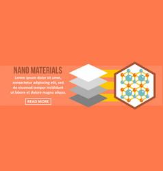 Nano materials banner horizontal concept vector