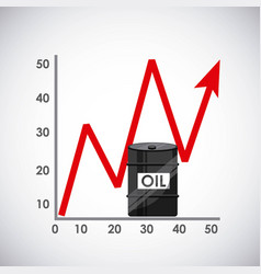 oil prices vector image