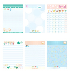 Paper Notebook Color Blue style vector