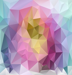 Pastel rainbow polygonal triangular pattern vector